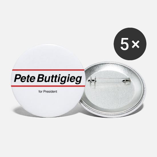 Usa Buttons & Anstecker - Pete Buttigieg for President - Buttons groß Weiß