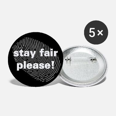 stay fair please circle button black lives matter - Large Buttons