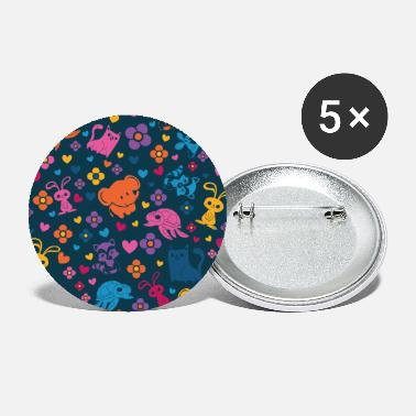Cute Animals Cute animal pattern - Large Buttons