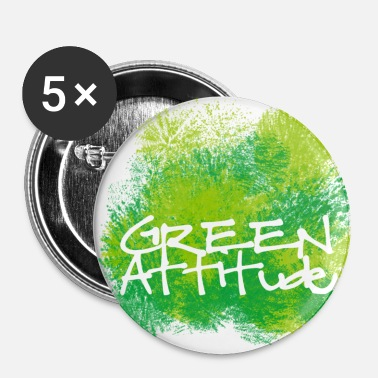 Green Peace Green attitude - Badge grand 56 mm