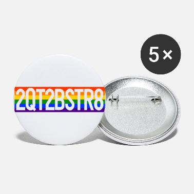 Gay Pride LGBT Gay Pride CSD Rainbow 2QT2BSTR8 - Large Buttons