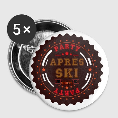 Apres Ski Shots Logo - Buttons groß 56 mm