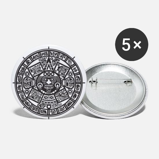 Noir Et Blanc Badges - Azteken - Grands badges blanc