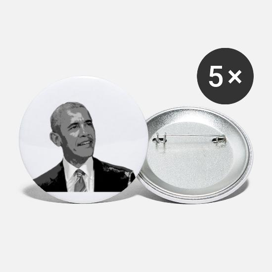Gift Idea Buttons - Obama - Large Buttons white