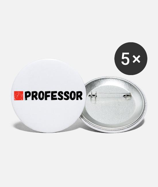 Professor Buttons - professor - Large Buttons white