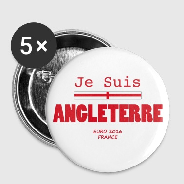 JE SUIS ANGLETERRE - EURO 2016 FRANCE - Red - Chapa grande 56 mm