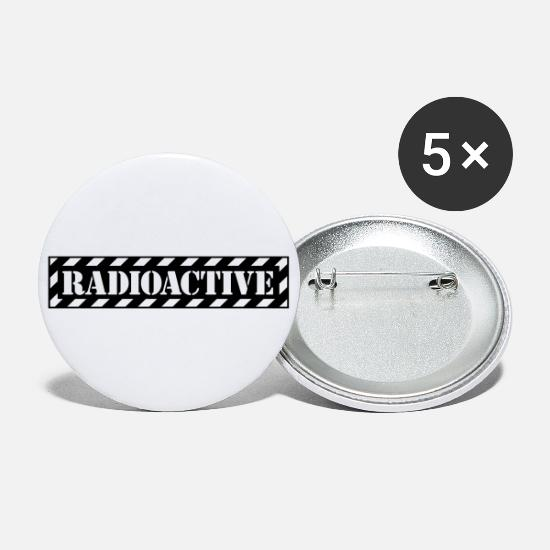 Gift Idea Buttons - Radioactive Nuclear Irradiates atomic nuclear energy - Large Buttons white