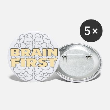 Clever Clever Clever Penser Intelligent Brain First - Grands badges