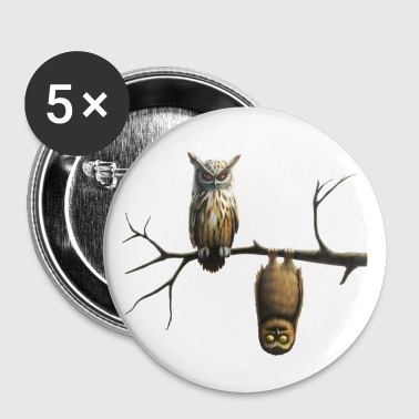 chouette - Badge grand 56 mm