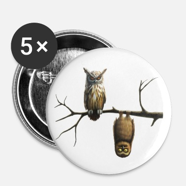 lille ugle (Owls) - Buttons/Badges stor, 56 mm