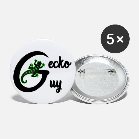 Gift Idea Buttons - Gecko guy - Large Buttons white