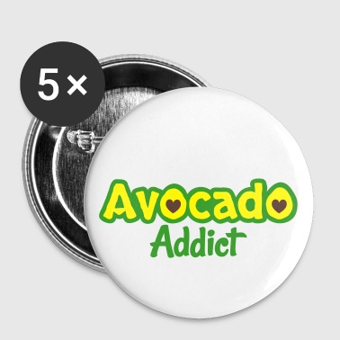 Avocado Addict - Buttons groß 56 mm
