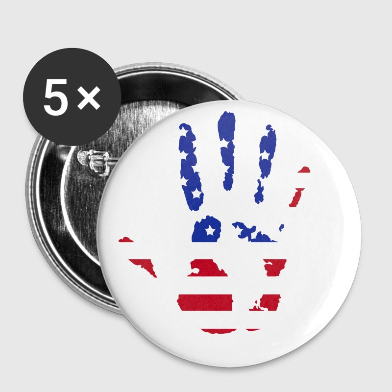 handprint with American flag - Buttons groot 56 mm
