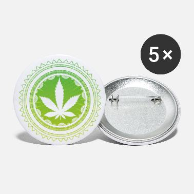 Blowers Cannabis Mandala THC 420 Weed Statement Design - Buttons groot