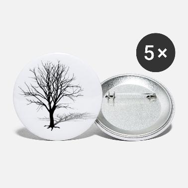 Silhouette tree silhouette winter shadow - Large Buttons