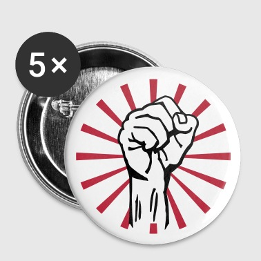Che Guevara fist 2c rays - Buttons/Badges stor, 56 mm