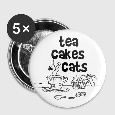 Tea cakes and cats - Badge grand 56 mm