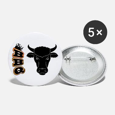 Lol BBQ Grill Bulle Grillmeister Steak Gartenparty lol - Buttons groß