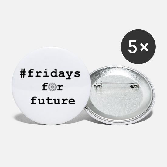 Activist Buttons - fridays for future, Be there! Join in! - Large Buttons white