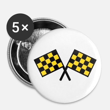 flags - car race - Buttons large 56 mm