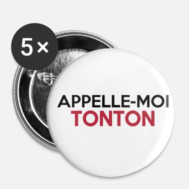 Super Pouvoirs APPELLE-MOI TONTON - Badge grand 56 mm