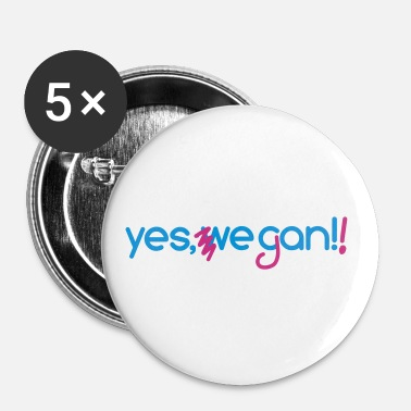 yes we can vegan - Buttons groß 56 mm