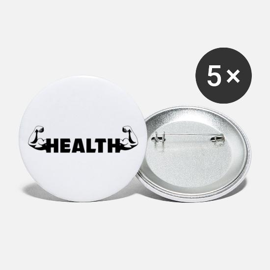 Look Good Buttons - Fitness Health Health Muscles Sports Body - Large Buttons white
