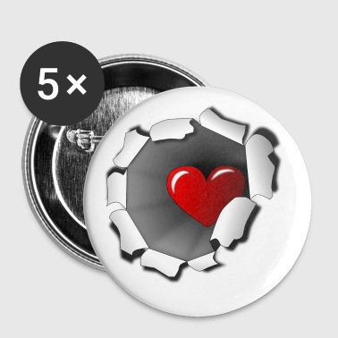 coeur - Badge grand 56 mm