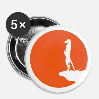 meerkat surikat moon - Buttons large 56 mm