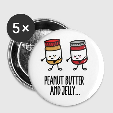 Floss dance flossing peanut butter and jelly jar  - Badge grand 56 mm