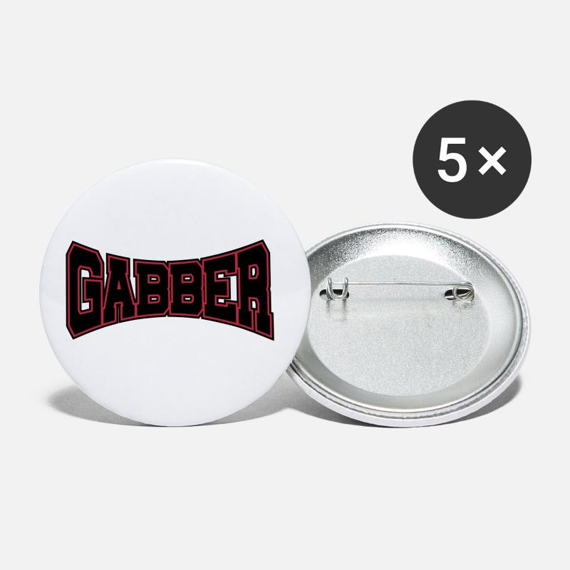 Old Buttons - Gabber Rave Quote - Large Buttons white