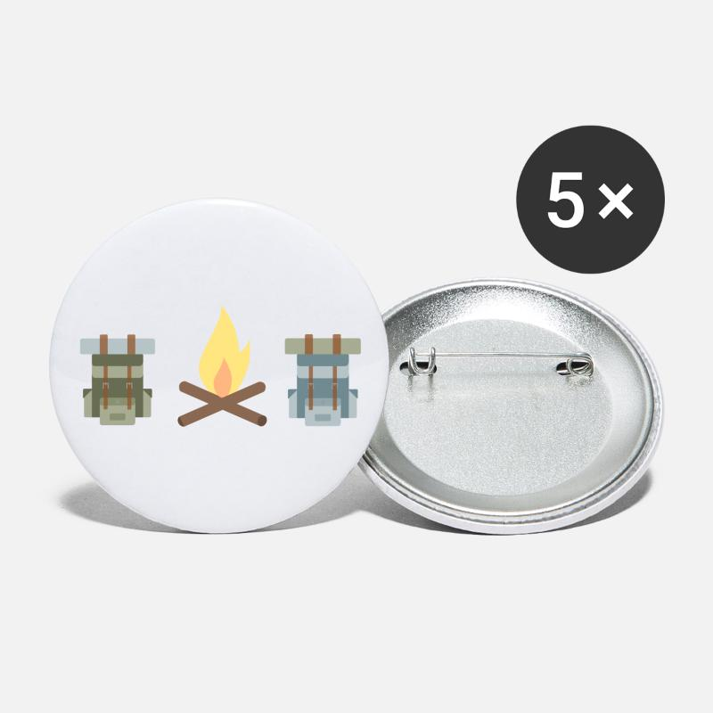 Tent Buttons - Camping collection - Large Buttons white
