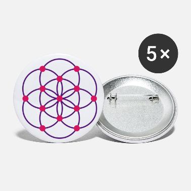 Aged To Perfection Flower of Life - beginning / light points - Large Buttons