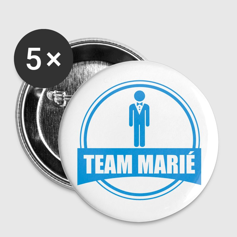 TEAM marié - équipe du marié - EVG - Badge grand 56 mm