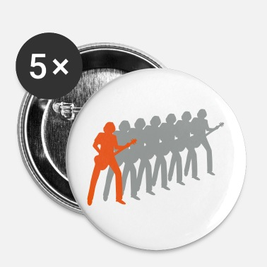 Bassist bassist - Buttons groot 56 mm (5-pack)