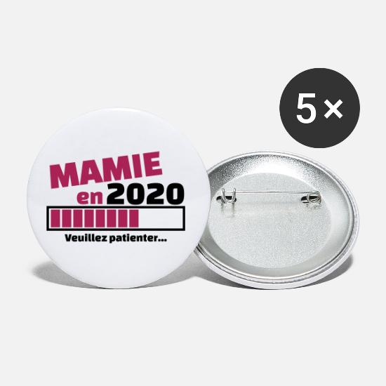 Mamie Badges - mamie en 2020 veuillez patienter - Grands badges blanc