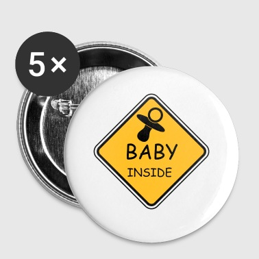 Baby Inside - Buttons groß 56 mm