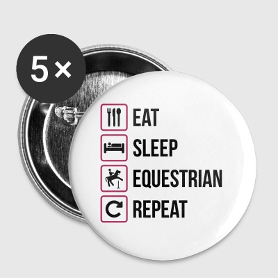 Eat Sleep Equestrian Repeat - Buttons groß 56 mm