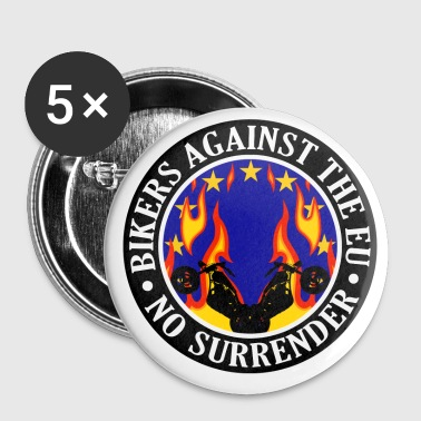Anti EU Bikers Against The EU 001 - Buttons large 56 mm
