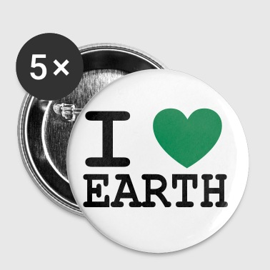 I *heart* earth! - Buttons large 56 mm