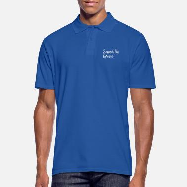 Saved by grace | Saved by Grace - Men's Polo Shirt