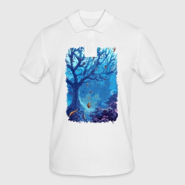 underwater aquarium sea fish lake coral - Men's Polo Shirt