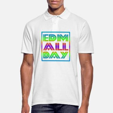 Line Dancing Edm Rave Rainbow EDM All Day Gift - Men's Polo Shirt