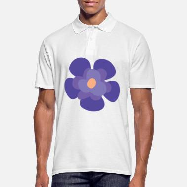 Animal Collection Flower Violet Iris - Men's Polo Shirt