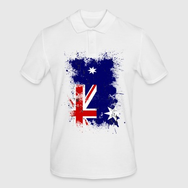 Paint Splatter Australia flag art paint splatter - Men's Polo Shirt