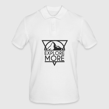 Travel and Explore Alps Hiking Zermatt - Men's Polo Shirt
