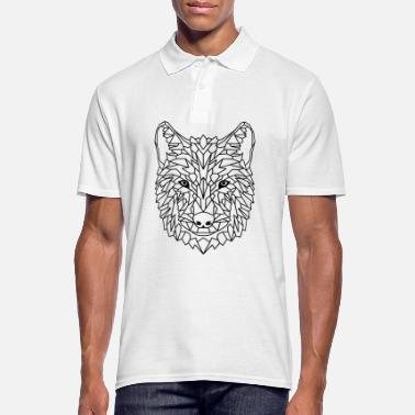Wolf geometric - Men's Polo Shirt