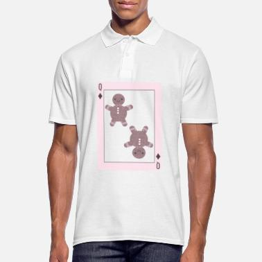 Poker Gingerbread playing card christmas - Men's Polo Shirt
