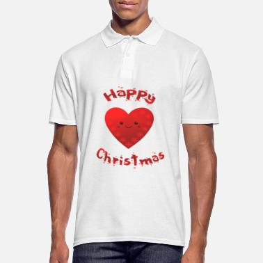 Heartbeat Beautiful heart Happy Christmas love - Men's Polo Shirt