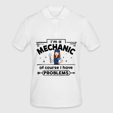 Female Mechanic - with problems - Men's Polo Shirt
